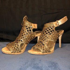 Donald Pliner leather heeled sandal